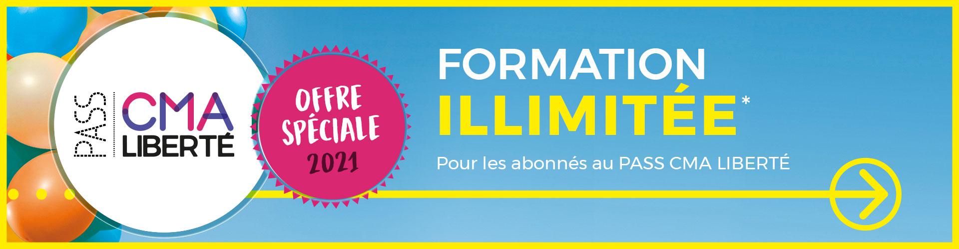 Pass CMA Liberté - formation illimitée